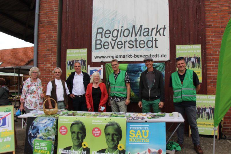 Wahlkampf auf dem Regiomarkt Beverstedt